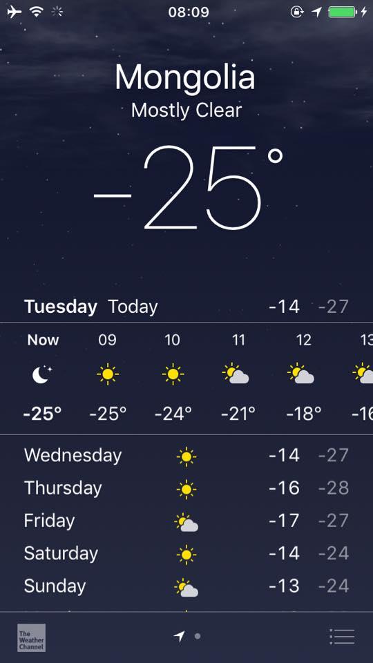 極寒。モンゴルの冬が到来!
