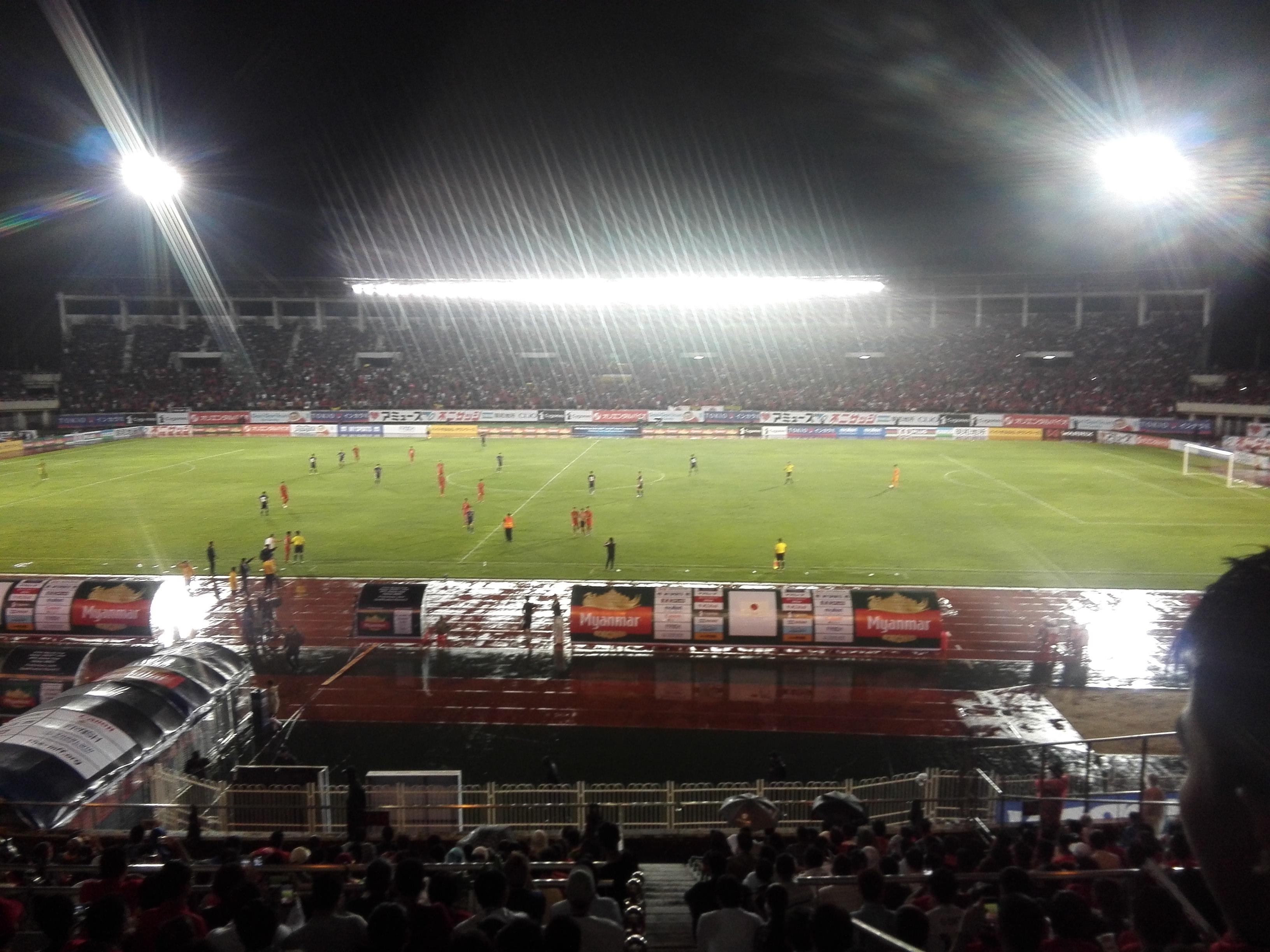 サッカーW杯予選 ミャンマーvs日本