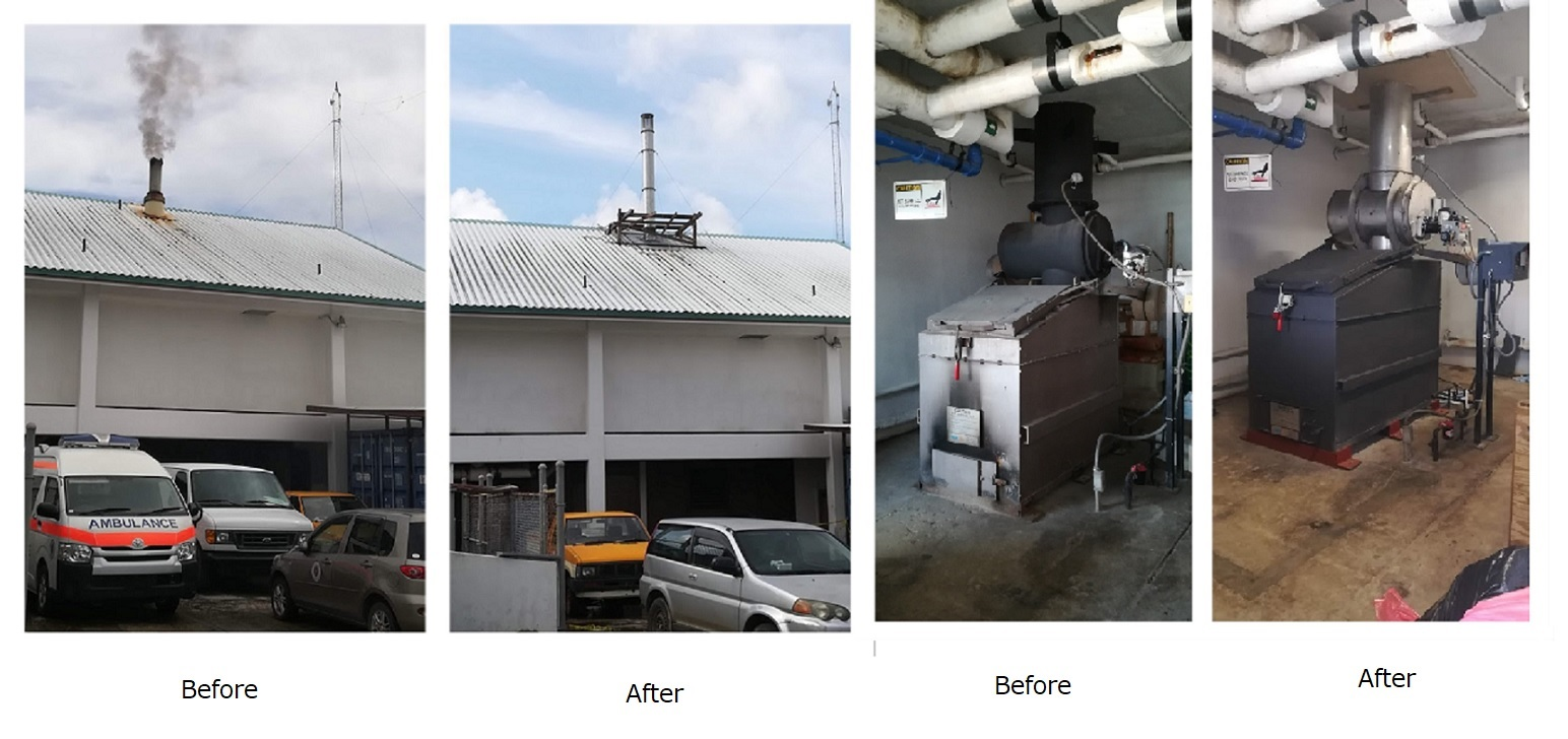 医療用廃棄物の焼却炉の完成