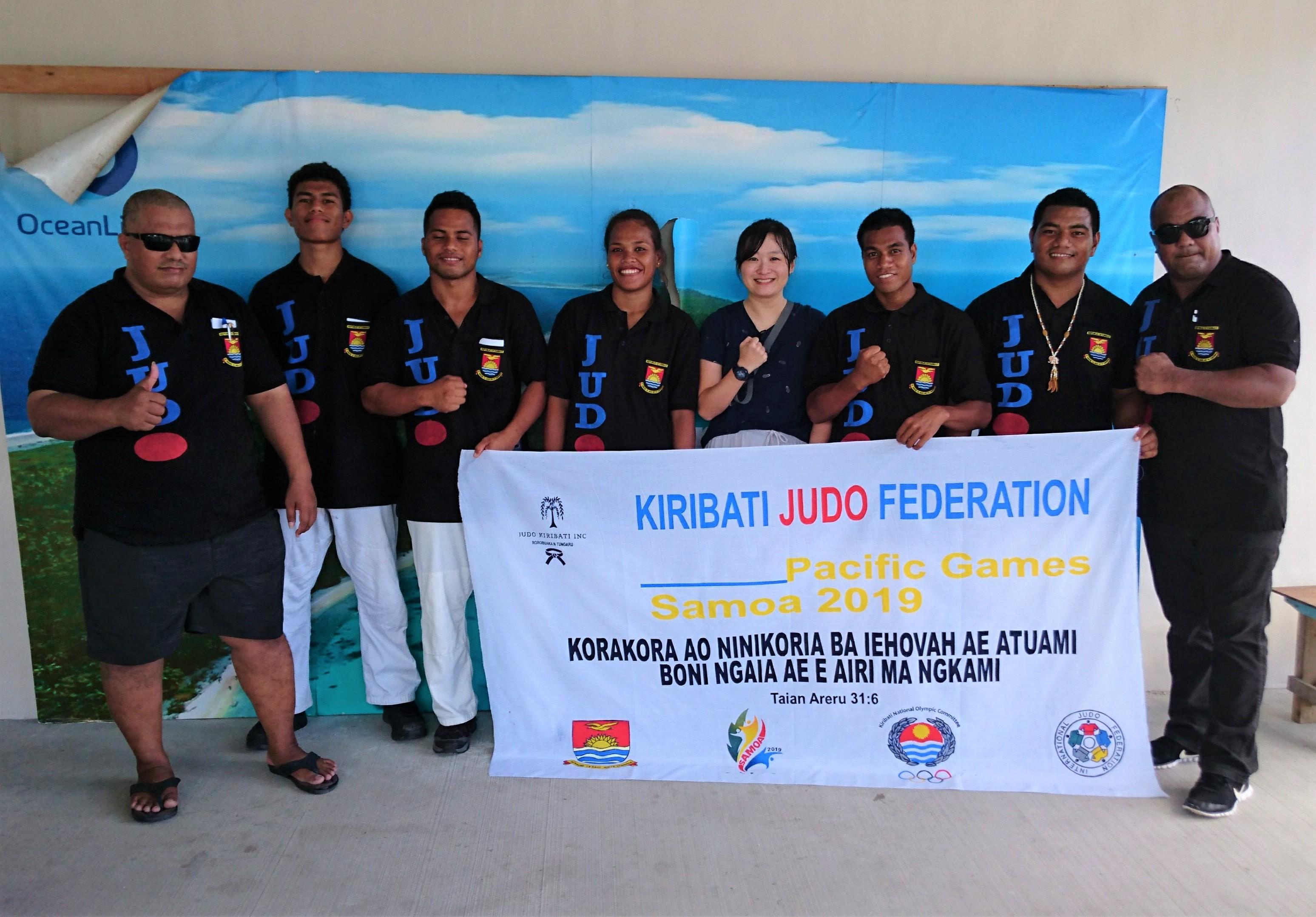 キリバスの柔道チーム、国際大会へ!