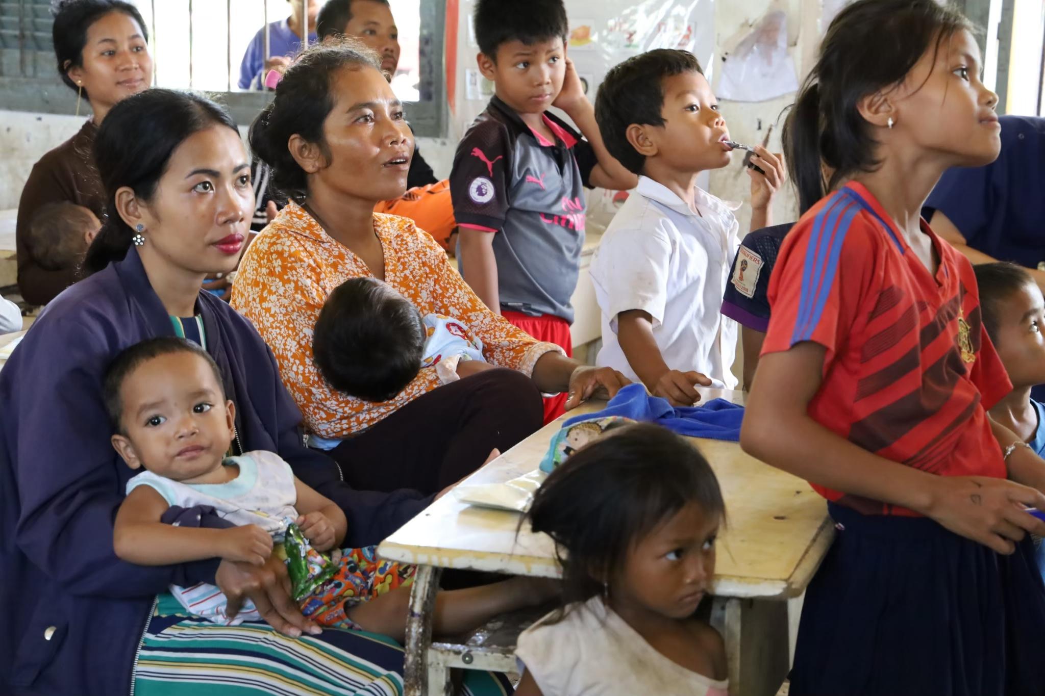 カンボジアで栄養についてのワークショップをしま・・・