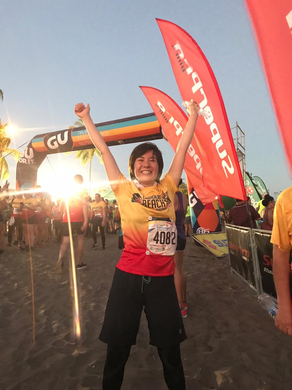 #4 夕日とマラソン